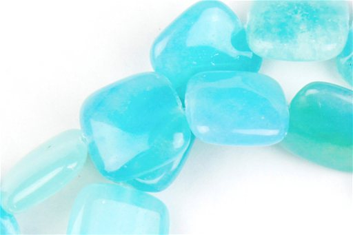 Hemimorphite, 16mm, Puff Square Shape Beads