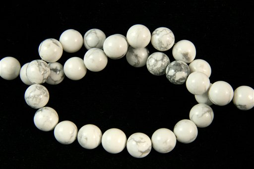 Howlite, 10mm, Round Shape Beads
