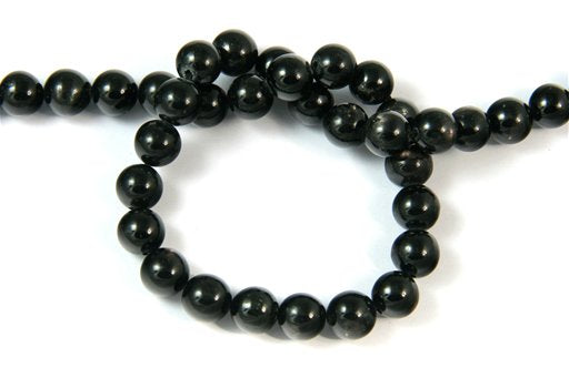 Hypersthene, 8mm, Round Shape Beads