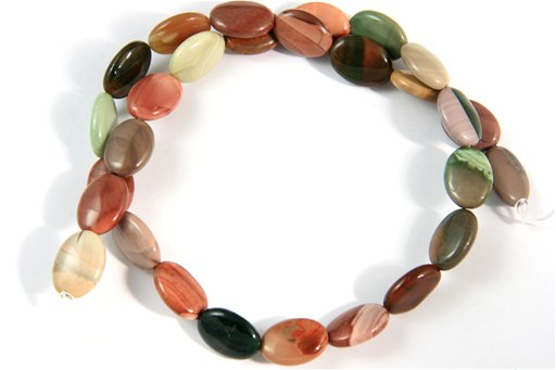 Imperial Jasper, 10x14mm, Oval Shape Beads