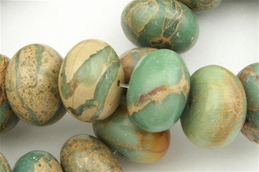 Impression Jasper, 18mm, Rondelle Shape Beads