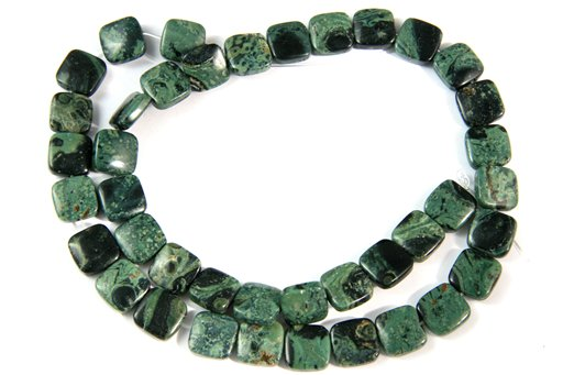 Kambaba Jasper, 10mm, Square Shape Beads