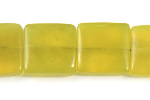 Korean Jade, 15mm, Square Shape Beads