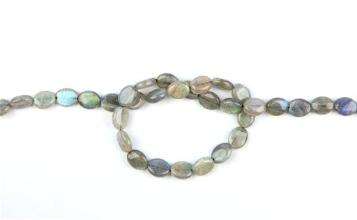 Labradorite (AA), 8x10mm, Oval Shape Beads