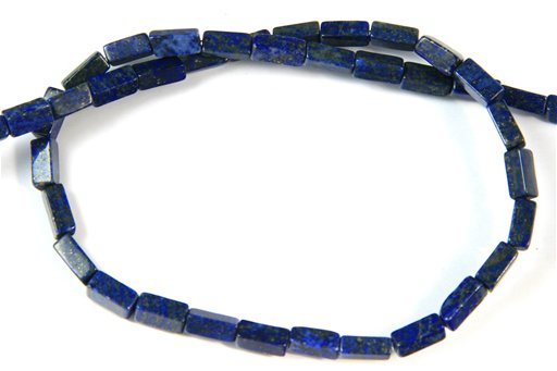Lapis lazuli, 4x9mm, Rectangular Tube Shape Beads