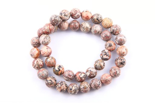 Leopard Skin, 10mm, Round Shape Beads