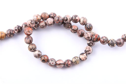 Leopard Skin, 8mm, Round Shape Beads