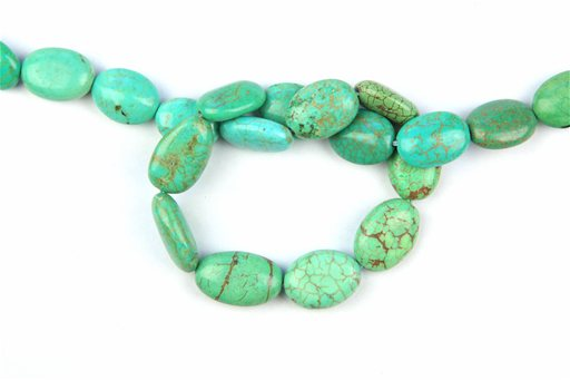 Magnesite Turquoise (Green), 14x18mm, Irregular Oval Shape Beads