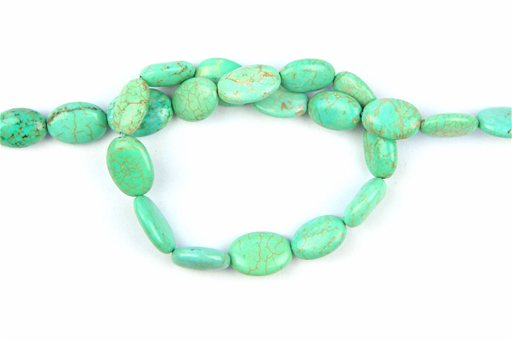 Magnesite Turquoise (Green), 10x14mm, Oval Shape Beads