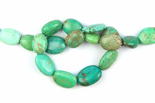 Magnesite Turquoise (Green), 15x20mm, Pebble Shape Beads