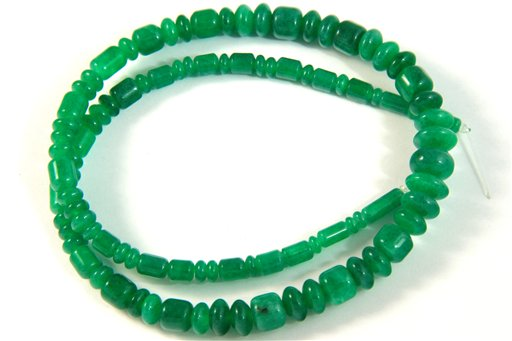 Malaysian Jade, 3-10mm, Barrel Rondelle Assorted Shape Beads