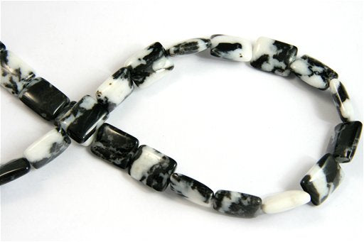Mexican Zebra, 13x18mm, Puff Rectangular Shape Beads