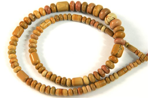 Mojave Rose, 3-10mm, Barrel Rondelle Assorted Shape Beads