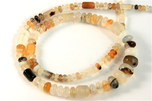 Montana Agate, 3-10mm, Barrel Rondelle Assorted Shape Beads