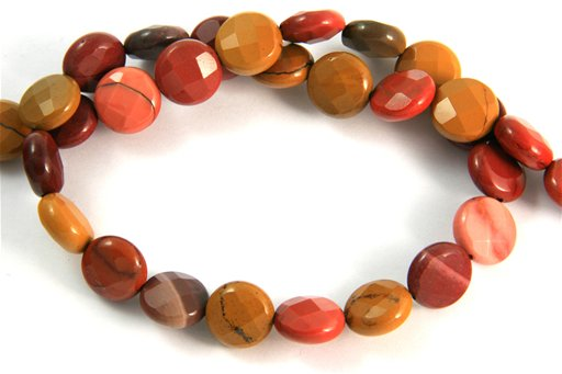 Mookite, 10mm, Faceted Coin Shape Beads