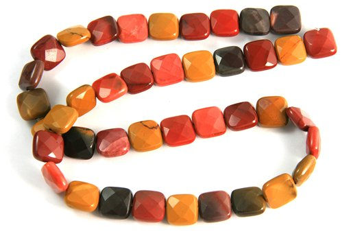 Mookite, 10mm, Faceted Square Shape Beads