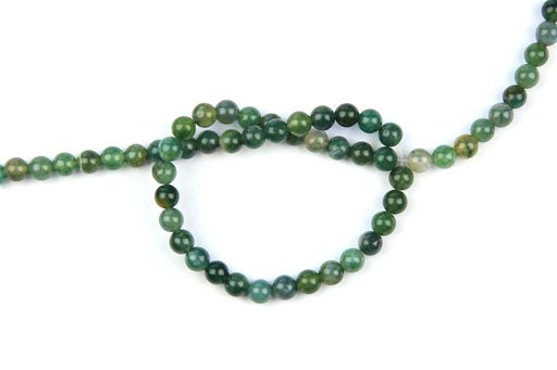 Moss Agate, 6mm, Round Shape Beads
