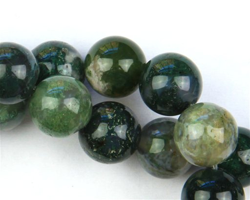 Moss Agate, 10mm, Round Shape Beads