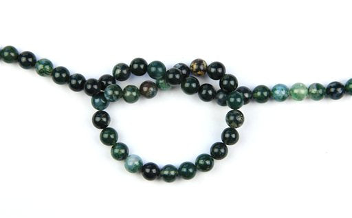 Moss Agate, 8mm, Round Shape Beads