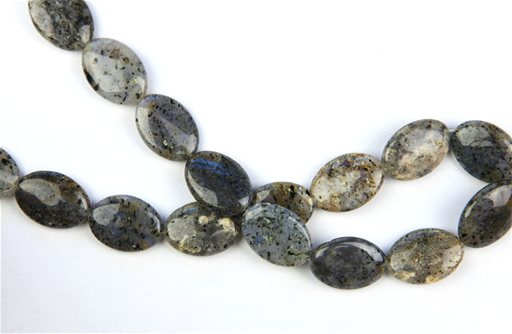 Moss Quartz, 18x25mm, Oval Shape Beads