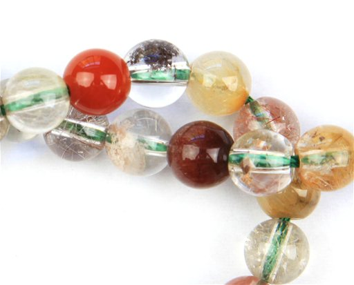Multi Rutile Quartz, 8mm, Round Shape Beads