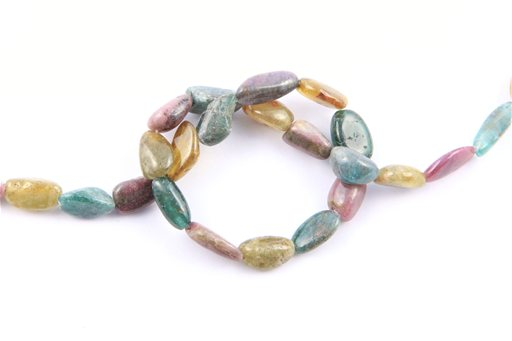 Multi Stone, 8-10mm, Nugget Shape Beads