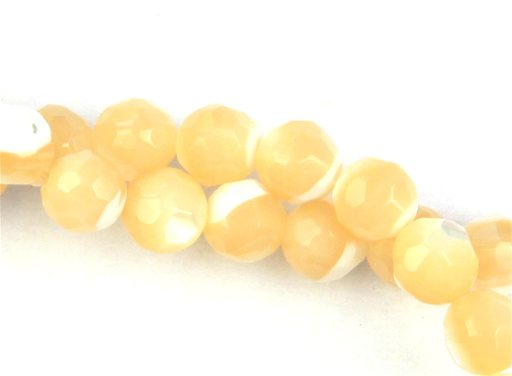 Natural Mother of Pearl, 4mm, Faceted Round Shape Beads