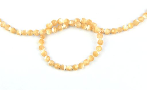 Natural Mother of Pearl, 6mm, Faceted Round Shape Beads