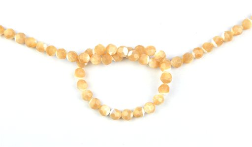 Natural Mother of Pearl, 8mm, Faceted Round Shape Beads