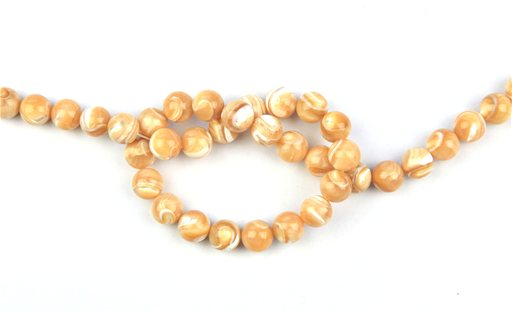 Natural Mother of Pearl, 10mm, Round Shape Beads