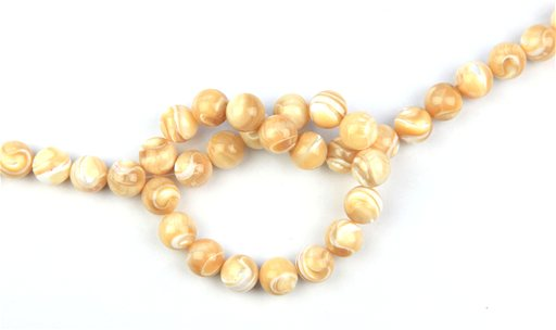 Natural Mother of Pearl, 12mm, Round Shape Beads