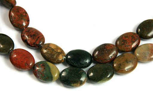 Ocean Jasper, 15x20mm, Oval Shape Beads