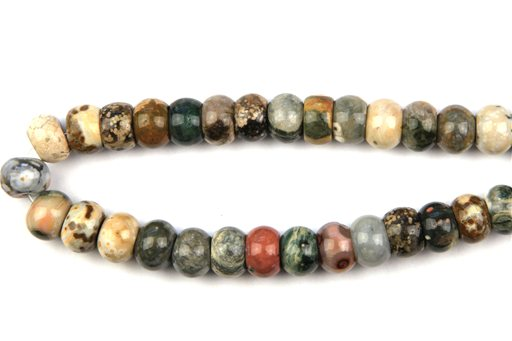 Ocean Jasper, 15mm, Rondelle Shape Beads