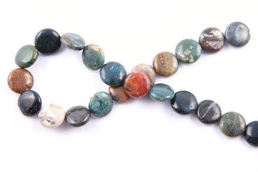 Ocean Jasper, 16mm, Coin Shape Beads