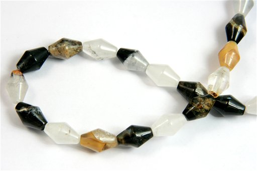 Opal Quartz, 10x15mm, Lantern Shape Beads