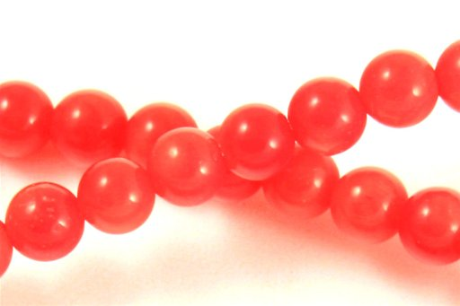 Orange Coral, 4mm, Round Shape Beads