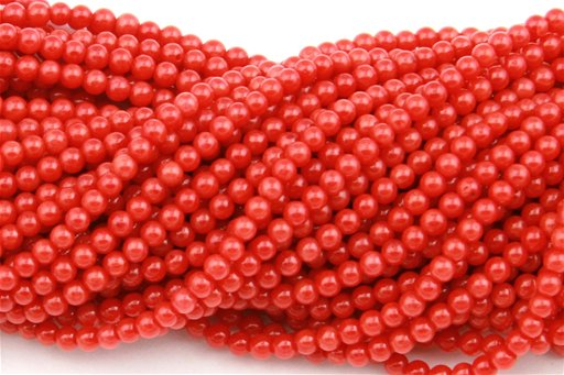Orange Coral, 2mm, Round Shape Beads