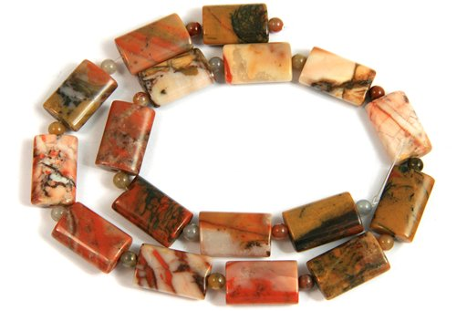 Orange River Stone, 13x18mm, Pillow Shape Beads