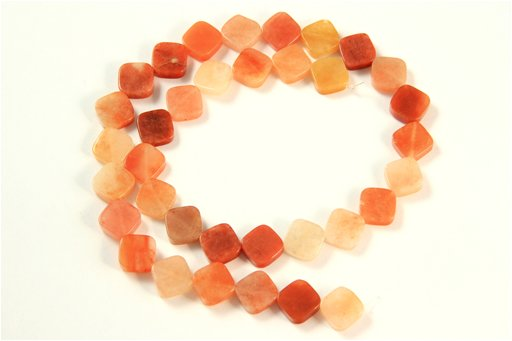 Oranginite, 10mm, Flat Diamond Shape Beads