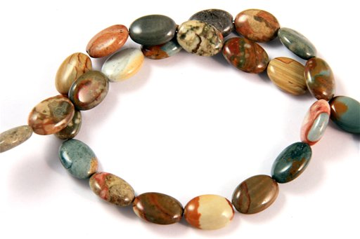 Owyhee Picture Jasper, 10x14mm, Oval Shape Beads