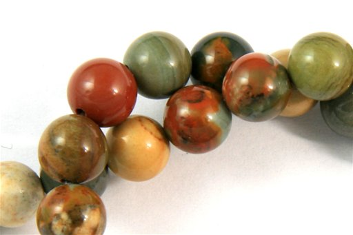 Owyhee Picture Jasper, 6mm, Round Shape Beads