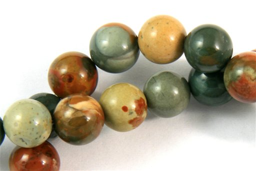 Owyhee Picture Jasper, 8mm, Round Shape Beads