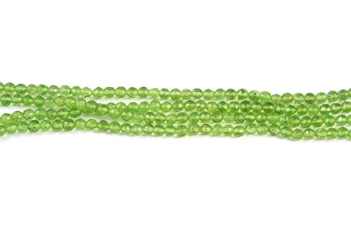 Peridot, 4mm, Faceted Round Shape Beads