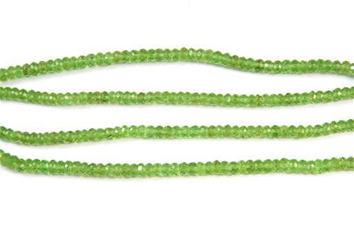 Peridot, 5mm, Rondelle Shape Beads