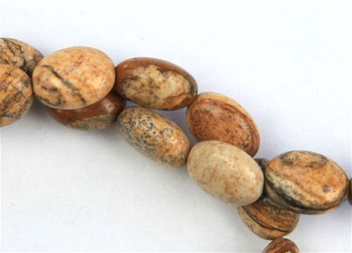 Picture Jasper, 8x10mm, Oval Shape Beads