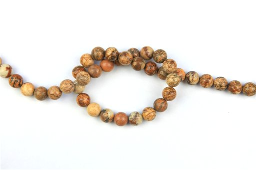 Picture Jasper, 10mm, Round Shape Beads