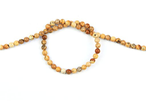 Picture Jasper, 4mm, Round Shape Beads