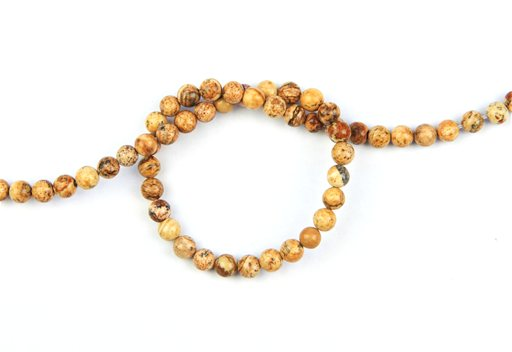 Picture Jasper, 6mm, Round Shape Beads