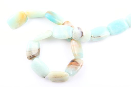 Rainbow Amazonite, 13x25mm, Flat Barrel Shape Beads