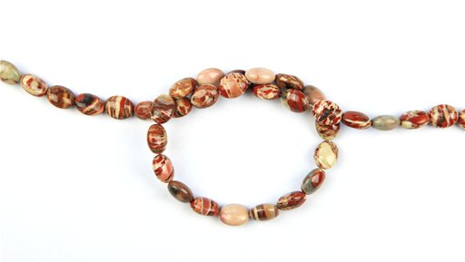 Rainbow Brecciated Jasper, 8x10mm, Oval Shape Beads